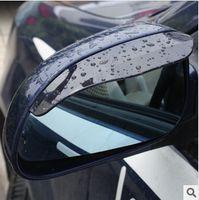 Wholesale Car Rain Rear - 2pcs lot Univeral Auto Car Rear Mirror Rain Board Eyebrow Sun Visor Shade Shield Flexible Car Rear View Side Mirror Rain Board