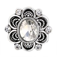 Wholesale palace crystals - New Aristocratic Palace Style Charm Crystal Metal Snaps Available with 18mm Button 2pcs lot Fashion Women Accessories DXH25