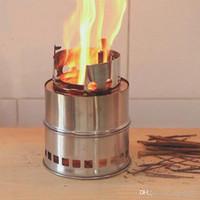 ingrosso stufa a legna-Outdoor Equipment portatile stufa in acciaio inossidabile che si accampa cucinando picnic barbecue alcool stufa stufa a legna per campeggio
