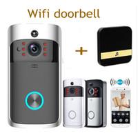kapılar için interkom toptan satış-Akıllı IP Video Interkom WI-FI Görüntülü Kapı Telefonu Kapı Zili WIFI Kapı Zili Kamera Daireler Için IR Alarm Kablosuz Güvenlik kamera