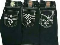 mens denim shorts tamanho 42 venda por atacado-2018 novo estilo dos homens Shorts Robin Rock Revival Jeans Cristal Studs Denim Calças Calças de brim dos homens Designer de homens Plus Size 30-42