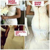 Wholesale Wedding Dresses Factory - Custom Made Off the Shoulder Mermaid Wedding Dress Sequined Lace Appliques Bridal Dresses High Quality Factory Real Photos