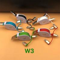 modelos de teléfono más nuevos al por mayor-El más nuevo cable de datos ajustable 3 en 1 Micro USB Tipo C Cable USB para iP X 8 7 6 120cm 6 modelos Cable para teléfonos inteligentes