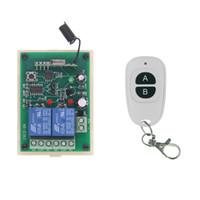 interruptor de relé de 24v al por mayor-Relé inalámbrico DC 12V 24V 10A Relé 2CH 2 CH RF Control remoto Interruptor Transmisor + Receptor, 315/433 MHz