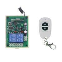 transmissor 2ch rf venda por atacado-Relé sem fio DC 12 V 24 V 10A Relé 2CH 2 CH RF Interruptor de Controle Remoto Transmissor + Receptor, 315/433 MHz