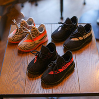Wholesale blue baby shoes - Designer Brand Kids Shoes Baby Toddler Run Shoes Kanye West 350 Running Shoes Boost V2 ChildrenBoys Girls Beluga 2.0 Sneakers