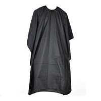 Wholesale Hair Cutting Hairdressing Cloth Barbers Hairdresser Large Salon Adult Waterproof Cape Gown Wrap Black Hairdresser Cape Gown Wrap