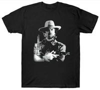 peliculas vintage gratis al por mayor-Clint Eastwood Camiseta Cowboy Wild West Película Película Vintage Retro Cumpleaños camiseta Fashiont Camiseta Envío gratis