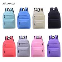 koreanischer segeltuchschultaschenrucksack großhandel-Qualität einfache mode tasche weibliche koreanische rucksack für frauen schüler teenager escolar frauen rucksack
