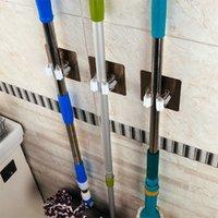 mop rack venda por atacado-Gancho de parede Mop Clipe Gancho de Aço Inoxidável Função Multi Vassoura À Prova de Água De Plástico Transparente Organizador Da Cozinha Rack de Armazenamento de Quadro 2 5jt bb