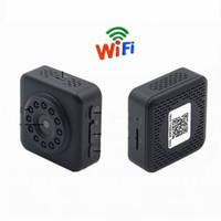 clip mini hd kamera großhandel-Neue WiFi Wireless HD 1080 P Monitor Nachtsicht Mini Kamera Recorder mit Clip Tür Sport Kamera Home Security Mini DV