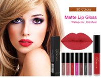 Wholesale new painting sexy for sale - Group buy NICEFACE New Liquid Lipstick Hot Sexy Colors Lip Paint Matte Lipstick Waterproof Long Lasting Lip Gloss Lip Kit