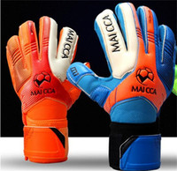 Wholesale clothes press - Goalkeeper Glove Protective Clothing Goalkeeper To Protect Bone Total Emulsion Colour Press Lines Non Slip Gloves Men And Women 65gf dd