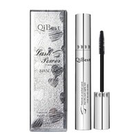 Wholesale thick mascara brands resale online - 2019 Qibest Brand Mascara Black Waterproof Makeup Mascara Brands Cosmetics Eye Lashes Curling Thick Eye Make Up Silver