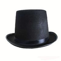 волшебники оптовых-Halloween Hat Реквизит Черный Маг Шапки Magic Hat Top Hats High Top Cap Джаз Мяч Одеваются