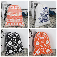 Wholesale protection gifts for sale - 4 colors Halloween Drawstring bag cotton environmental protection Gift bag Pumpkin Candy Sack Bag Handbags Cartoon storage bags MMA341