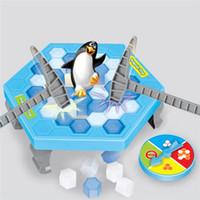 cubitos de hielo juguetes al por mayor-Penguin Icebreaker Beating Juego de mesa de escritorio interactivo 1 Set Save Edc Learning Balance Ice Cubes Toys