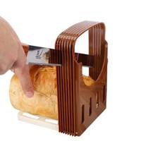 ekmek dilimleyici tostları toptan satış-Cariel Ekmek Kesici Loaf Tost Dilimleme Araçları Sandviç Dilimleme Kesici Kalıp Makinesi ekmek ve pasta araçları mutfak araçları H115
