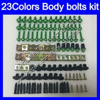 Wholesale Gsx K5 - Fairing bolts full screw kit For SUZUKI GSXR1000 03 04 05 06 GSXR 1000 GSX R1000 K3 K5 2003 2004 2005 Body Nuts screws nut bolt kit 23Colors