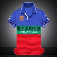 polo vermelho branco azul venda por atacado-RED bordados Polo Multi cor de manga curta homens Polos Esporte BLACK Polo Team AZUL BRANCO PRETO LISTRA S M L XL 2XLDropship