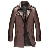 Wholesale clothes for office style resale online - men s business leather jacket noble gentleman office style formal leather jacket for men male outerwear clothing