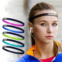 Wholesale high hair women resale online - Top Quality Polyester Sweat Headband For Women Yoga Hair Bands Sports Safe High Elastic Force Sweatband Hot Sale an dd