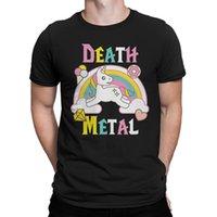 metal clássico camisetas venda por atacado-Death Metal Unicórnio T-Shirt, T de Metal, Das Mulheres dos homens Todos Os Tamanhos RETRO VINTAGE Clássico t-shirt