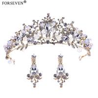 Wholesale beaded hair tiaras for sale - Group buy Bride Hair Jewelry Baroque Handmade Beaded Luxury Gold Crystal Tiaras Sweet Princess Crown Wedding Hair Accessories