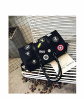 koreanische taschen großhandel-Rosa große Kapazität koreanische Oxford Patch Mode Reisetasche Designer Handtaschen Schultertasche wasserdichte Duffle Tasche Gepäck Reisetaschen