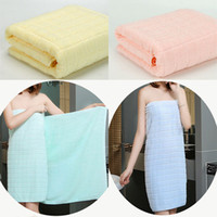 Wholesale girl shower gifts resale online - Cotton Bath Towel Lady Girls SPA Shower Towel Body Wrap Bath Robe Beach Spa Bathrobes Home Hotel Supplies Christmas Gifts cm WX9