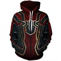 3xl halloween kostüme großhandel-Avengers Infinity Krieg Eisen Spinne Hoodie Pullover Mantel Halloween Spiderman Superhero Männer Cosplay Kostüm
