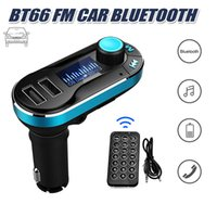 empfängerkarten großhandel-BT66 Bluetooth FM Übermittler übergibt FM-Radioadapter-Empfänger-Auto-Installationssatz Doppel-USB-Auto-Aufladeeinheits-Unterstützung Sd-Karte USB-Blitz für Iphone