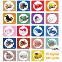 Wholesale 19styles Cable Bite Zoro Chopper Luffy ELMO kitty Shnnosuke Doraemon Cartoon Animal bite cable Protector Charger Cord cable bites for iPhone