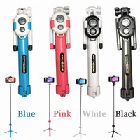 Wholesale iphone monopods - Selfie stick Tripods bluetooth timer selfie monopods Extendable Self Portrait Stick remote for Android Iphone smartphone by dhl