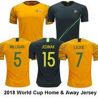 Wholesale australia army - Australia Top Thai 2018 World Cup CAHILL JEDINAK Soccer Jersey MILLIGAN LUONGO ROGIC MOOY National Football Shirt LECKIE BEHICH HomeYellow