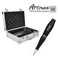 permanente make-up-kits großhandel-Permanent Kits Artmex V3 Permanent Make-up Micro-nadel Augenbraue machen upLip Rotary Tattoo Maschine Elektromotor Stift MTS PMU