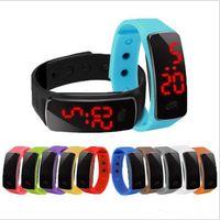 kostenloses buch lesen großhandel-Heißer großhandel neue mode sport led uhren süßigkeiten gelee männer frauen silikon gummi touchscreen digitaluhren armband armbanduhr
