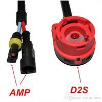 zócalo d2s al por mayor-2 unids D2S D2R D4S D4R convertidor de cable arnés de cable hid d2s AMP adaptador de toma de socket