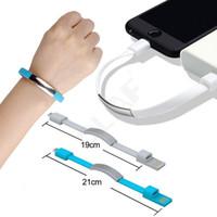 iphone usb bracelet achat en gros de-Bracelet Micro USB Câble Fil Sync Données Chargeur Cordon Câble USB pour iPhone 5s 6s 7 Plus X Pour Samsung S6 S7 Pour Xiaomi Avec Paquet de Détail