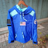xxl navy hoodie großhandel-Mode Hoodie 17ss Gore-Tex Pullover Hoodie Hip Hop USA Flagge Jacke Blau Schwarz Navy Rot 4 Farben S-XXL