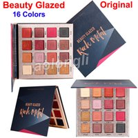 Wholesale glazed metal resale online - Original Beauty Glazed eyeshadow palette Rock metal Colors makeup eyeshadow matte Ultra shimmer highly pigmented Eyes Cosmetics