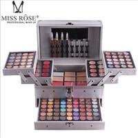 комплект профессиональной косметики оптовых-MISS ROSE Профессиональные наборы палитры для макияжа лица matteshimmer тени для век Корректор Осветляющий водонепроницаемый набор для макияжа основы DHL бесплатно