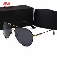 gafas de sol de viento al por mayor-2018 nueva llegada de los hombres gafas de sol polarizadas moda viento británico vanguardista gafas UV marea 8845 lujo gafas