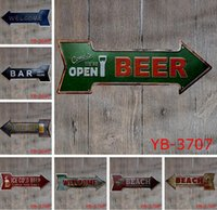 Wholesale vintage tin beer signs for sale - Group buy Coffee Beer Garage cupcake Exit Vintage Arrow Irregular Tin Sign Gift Craft Wall Plaque Cafe Supermarket Decor