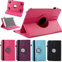 Wholesale 9 inch tablet case online - Universal rotating case for inch tablet MID Q88 A13 for Galaxy tab for ipad mini