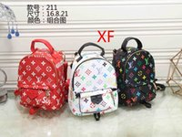Wholesale Large Straw Bags - Women's Casual PU Leather Backpacks For Teenage Girls Backpack Women Floral Retro Mochila Escolar Shoulder Bag Designer School Bags A001