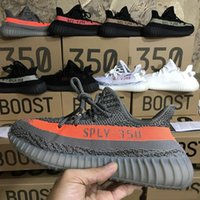 Wholesale Purple Western Boots - With Box Originals 350 V2 Boost Kanye West 2018 Top Quality boots Zebra Bred Black Orange Stripes Adidas Yeezy Yeezys Size 46
