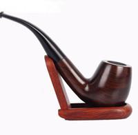 ручной держатель для сигарет оптовых-Handmade трубы черного дерева, изогнутые ручки, держатели сигареты, штуцеры сигареты, штуцеры патрона фильтра.