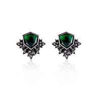 Wholesale cheap price vintage earrings jewelry for women evening dress coat fashion accessories big crystal emerald studs christmas gifts