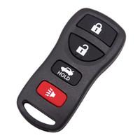 botonera nissan con control remoto al por mayor-Estuche de reemplazo de alta calidad para el nuevo Nissan 3 + 1 botón para Nissan Sentra Remote Key en blanco Shell Fob Cover